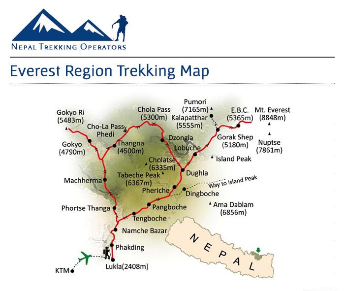 Everest Base Camp Short Trek Map