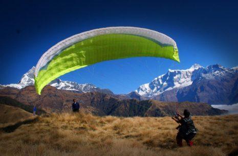 Paragliding take off time