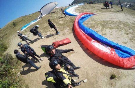 Paragliding flight starting time in Sarangkot Hill