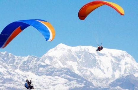 Cross country Paragliding flight